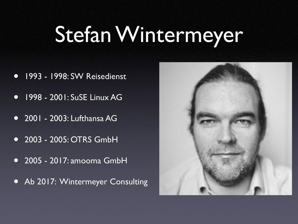 Stefan Wintermeyer • 1993 - 1998: SW Reisediens...