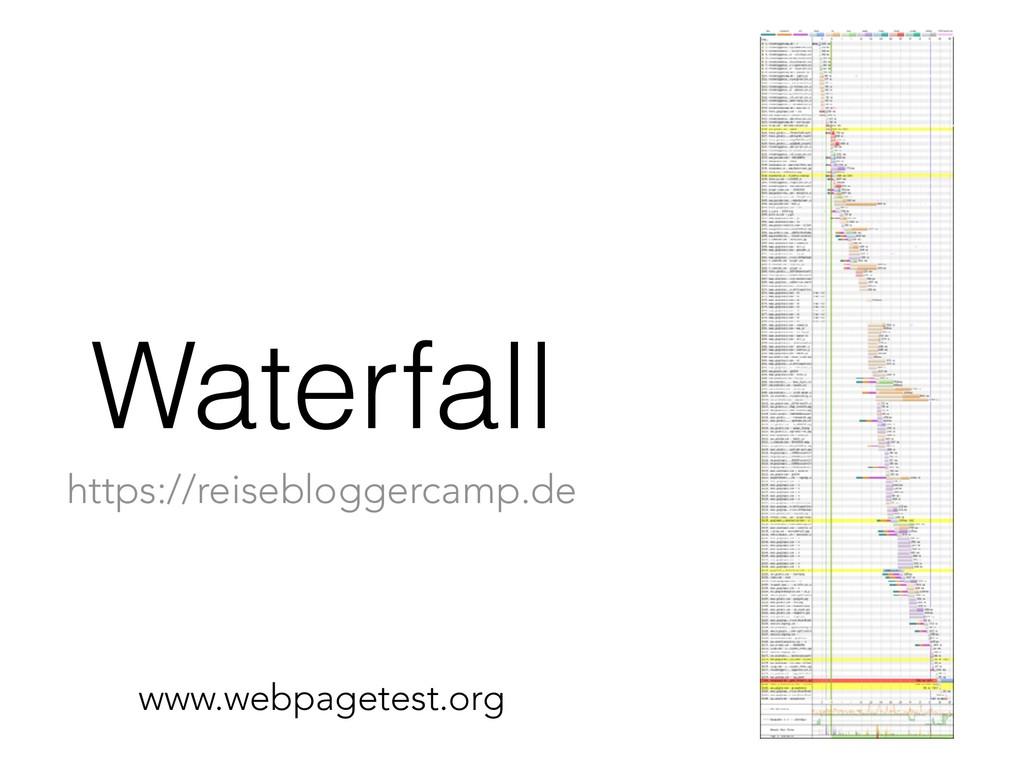 Waterfall www.webpagetest.org https://reiseblog...