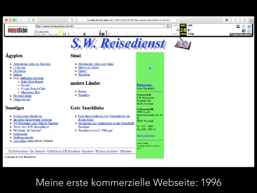 Meine erste kommerzielle Webseite: 1996