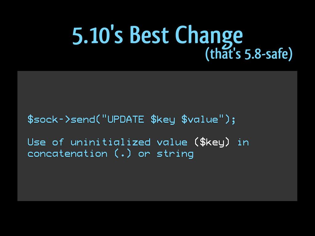 """$sock->send(""""UPDATE $key $value""""); ! Use of uni..."""