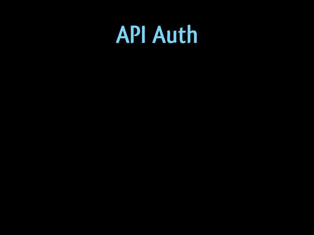 API Auth