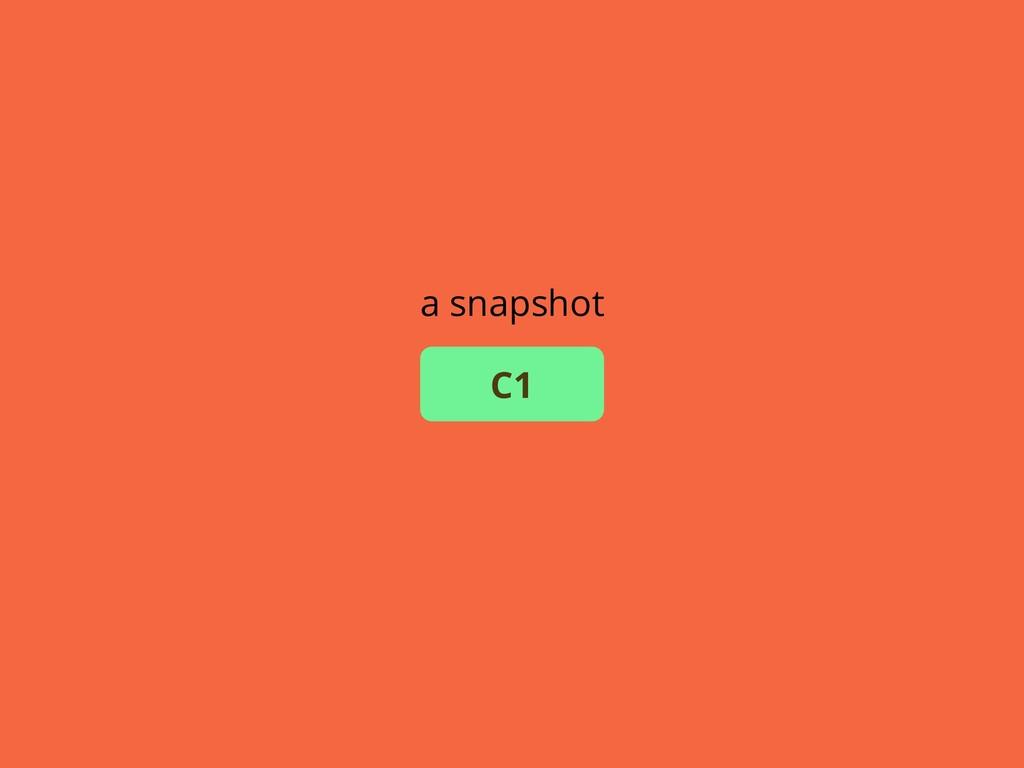 a snapshot C1