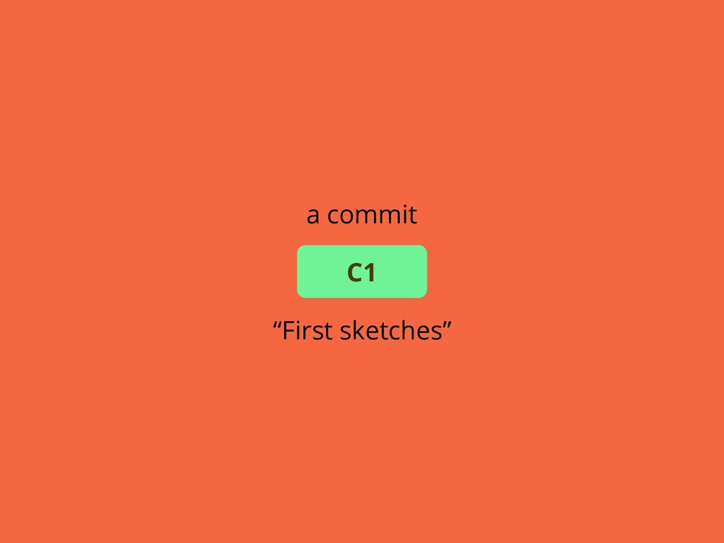 """a commit """"First sketches"""" C1"""