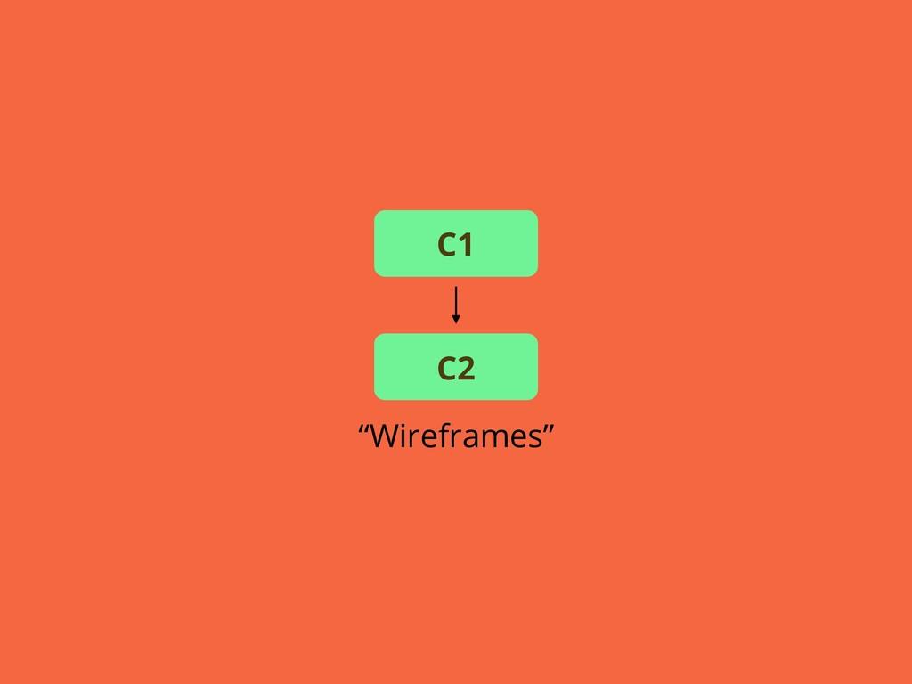 """Wireframes"" C1 C2"