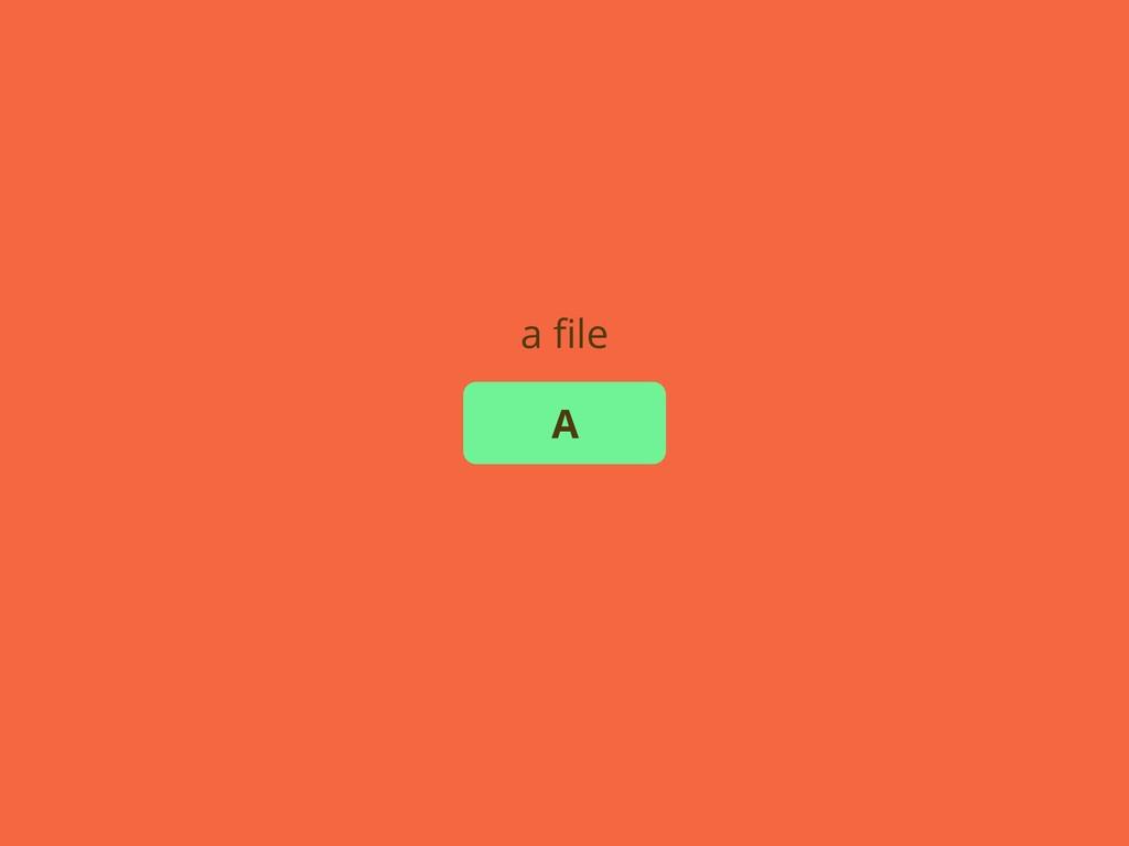 A a file