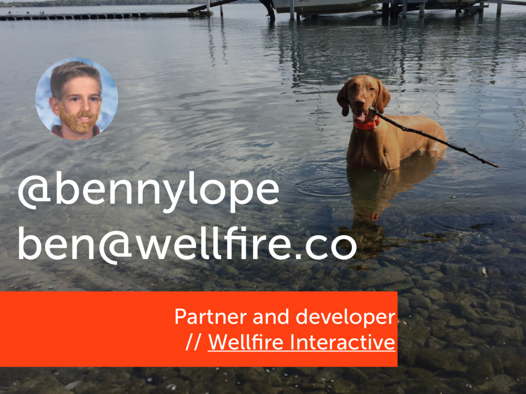 Partner and developer // Wellfire Interactive @b...