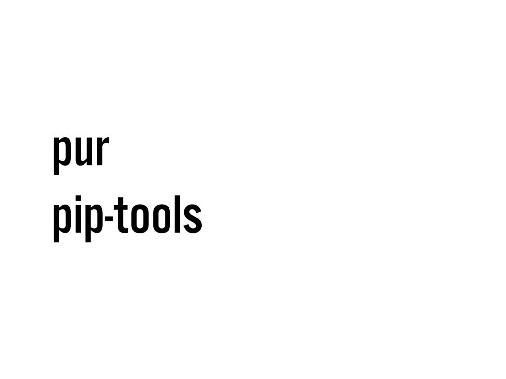 pur pip-tools