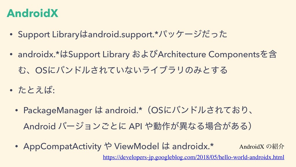 AndroidX • Support Libraryandroid.support.*ύοέ...