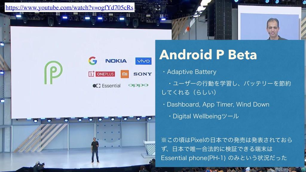 "Android P Beta ɾ""EBQUJWF#BUUFSZ ɹɾϢʔβʔͷߦಈΛֶश͠..."
