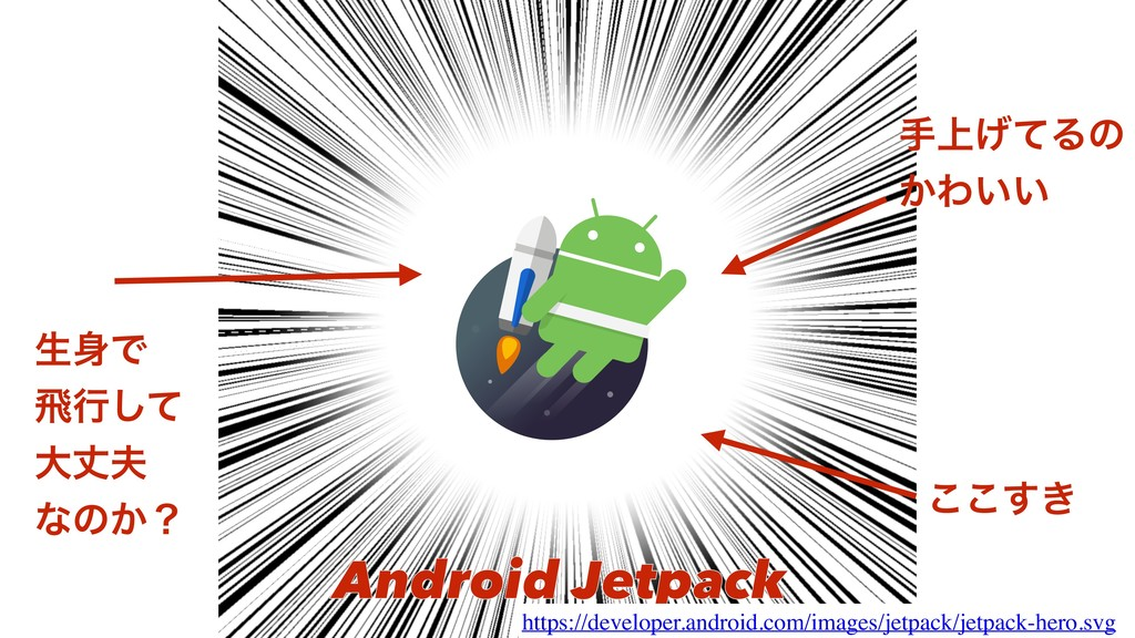Android Jetpack ͖͜͜͢ Android Jetpack ख্͛ͯΔͷ ͔Θ͍...