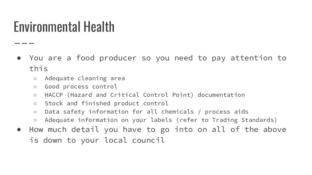 ● You are a food producer so you need to pay at...