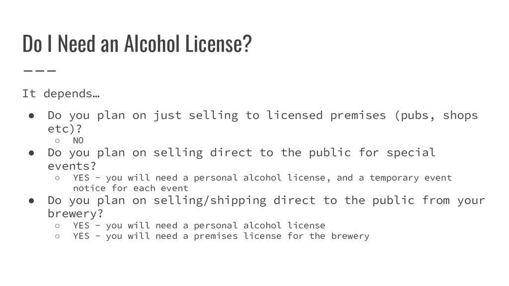 It depends… ● Do you plan on just selling to li...