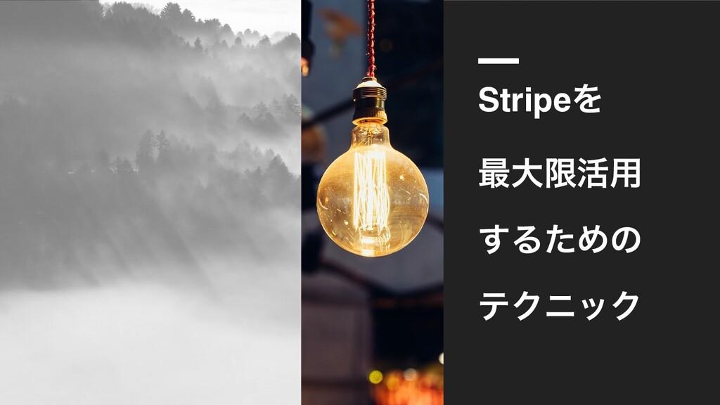 StripeΛ ࠷େݶ׆༻ ͢ΔͨΊͷ ςΫχοΫ