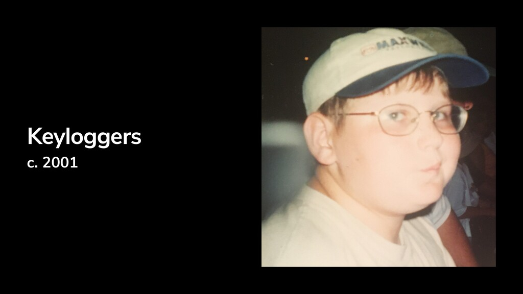 Keyloggers c. 2001