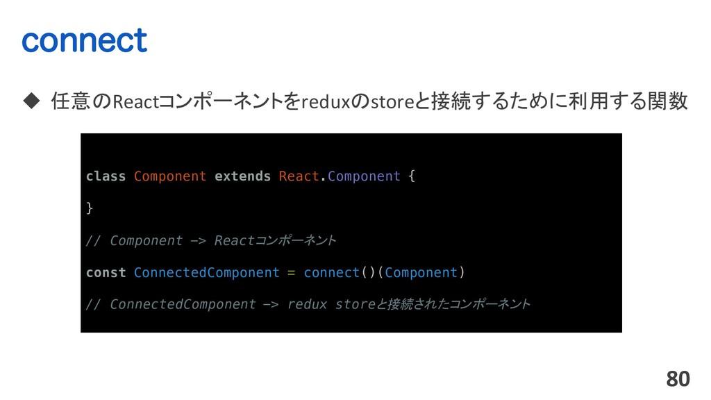 DPOOFDU u 任意のReactコンポーネントをreduxのstoreと接続するために利用...