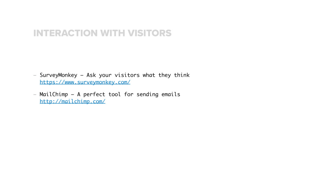 — SurveyMonkey – Ask your visitors what they th...
