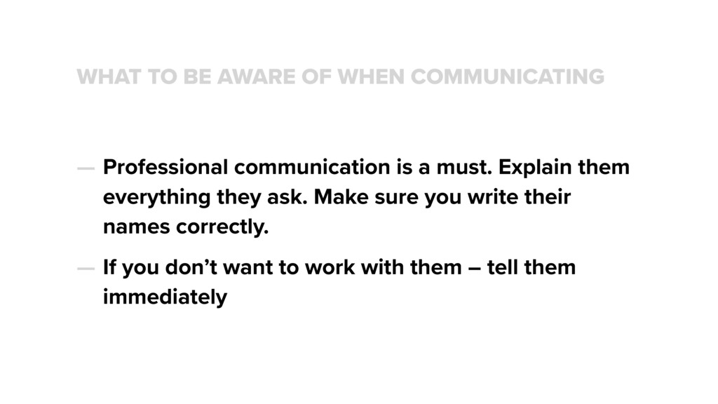 WHAT TO BE AWARE OF WHEN COMMUNICATING — Profes...