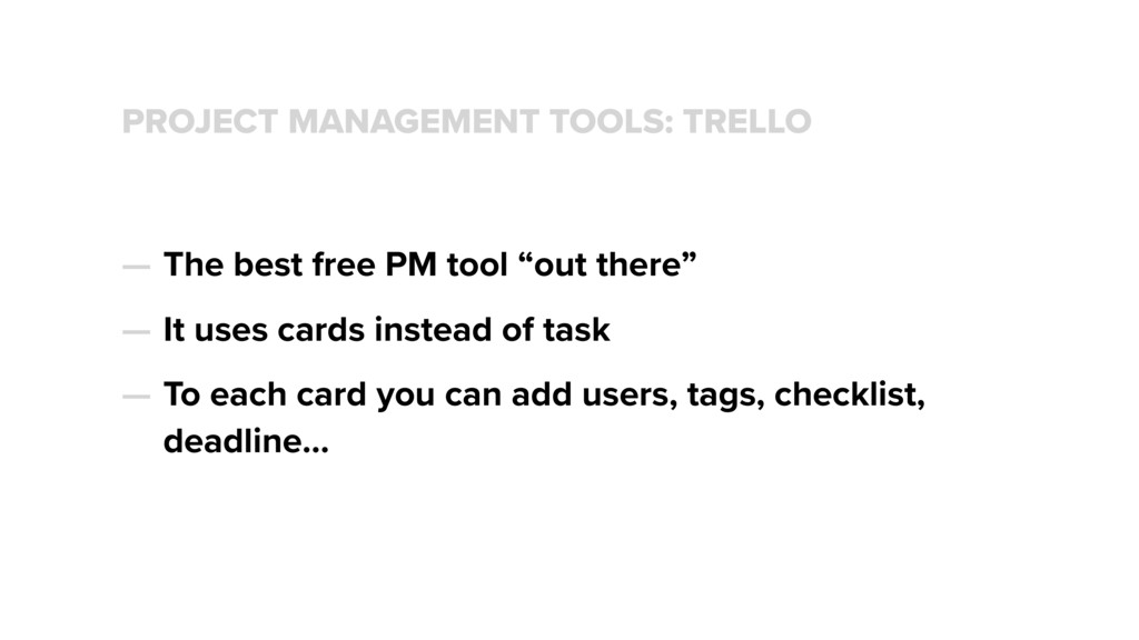 PROJECT MANAGEMENT TOOLS: TRELLO — The best fre...