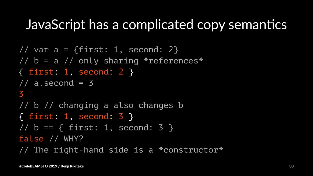JavaScript has a complicated copy seman4cs // v...