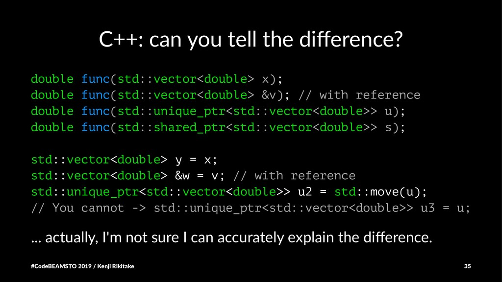 C++: can you tell the difference? double func(st...