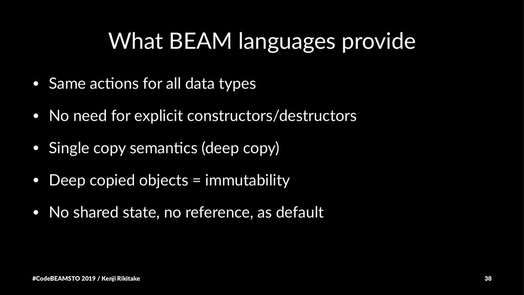 What BEAM languages provide • Same ac(ons for a...