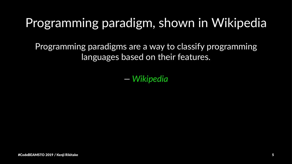 Programming paradigm, shown in Wikipedia Progra...