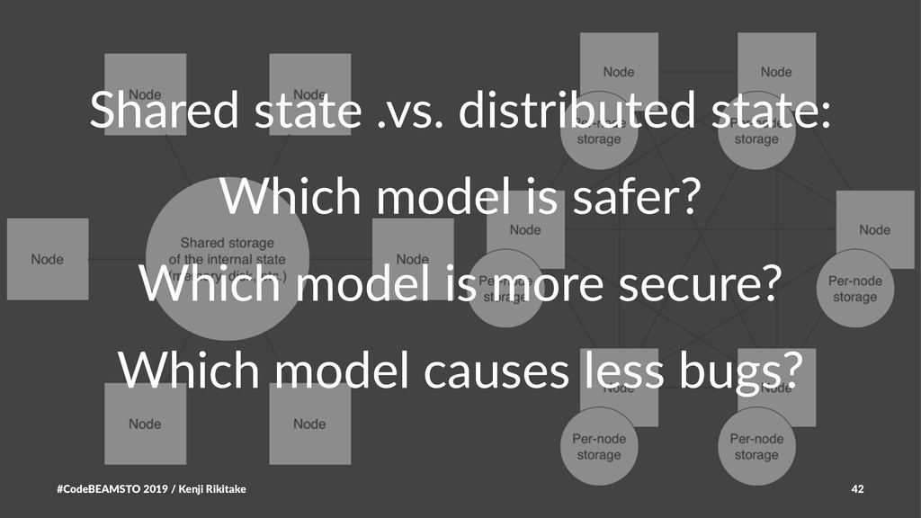 Shared state .vs. distributed state: Which mode...