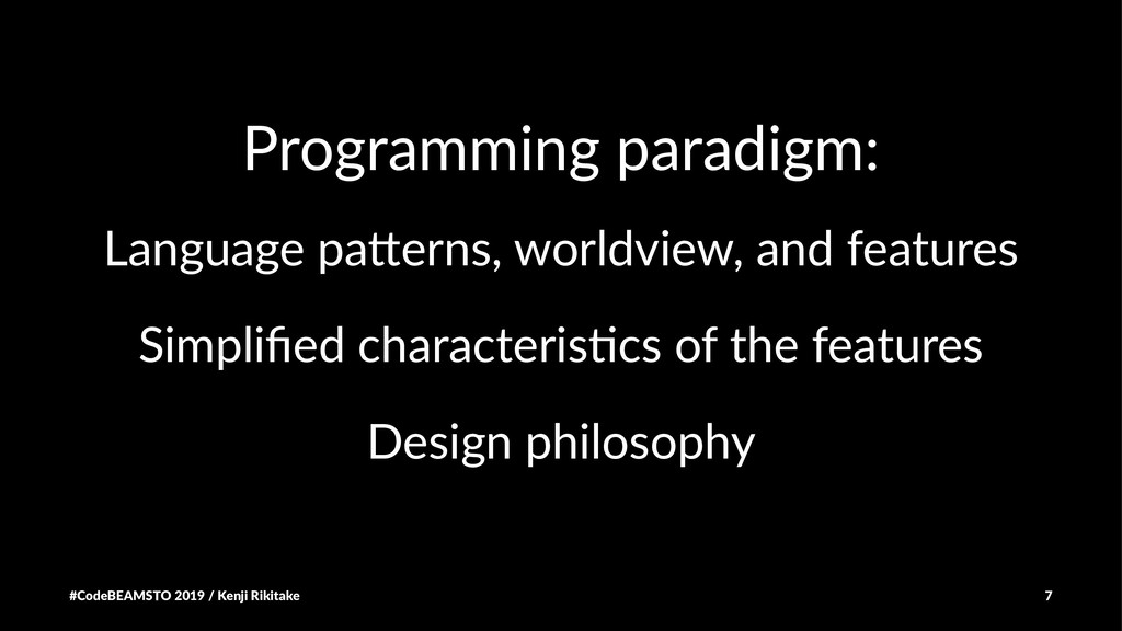 Programming paradigm: Language pa)erns, worldvi...