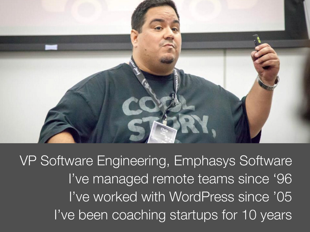 VP Software Engineering, Emphasys Software