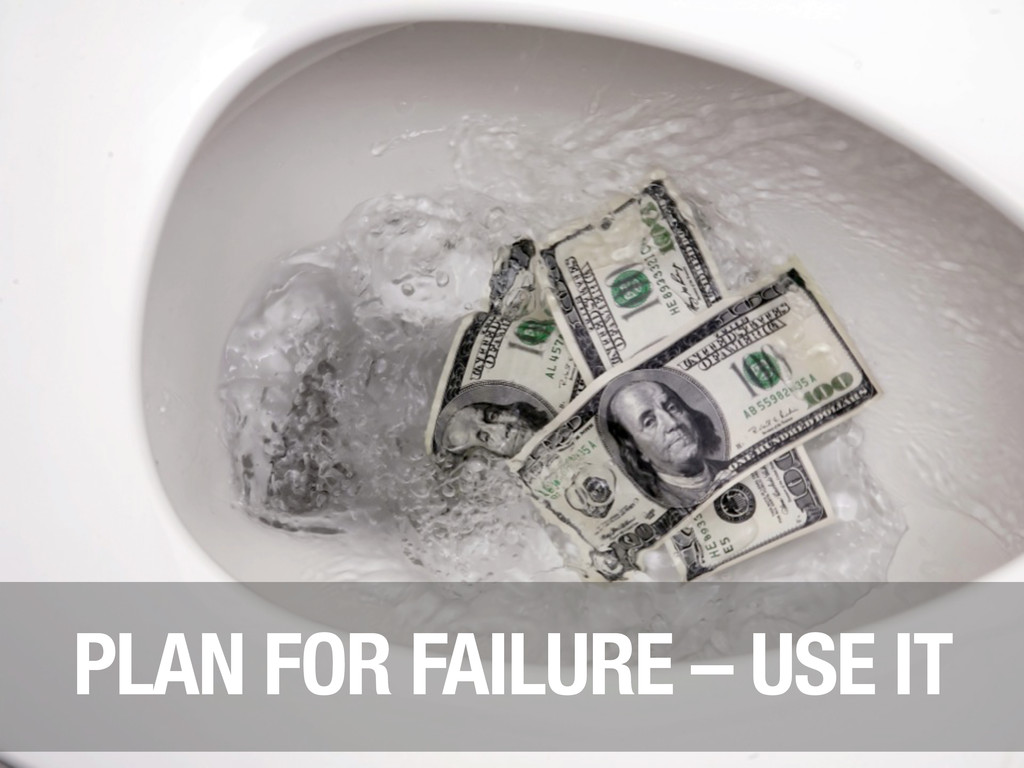 PLAN FOR FAILURE – USE IT