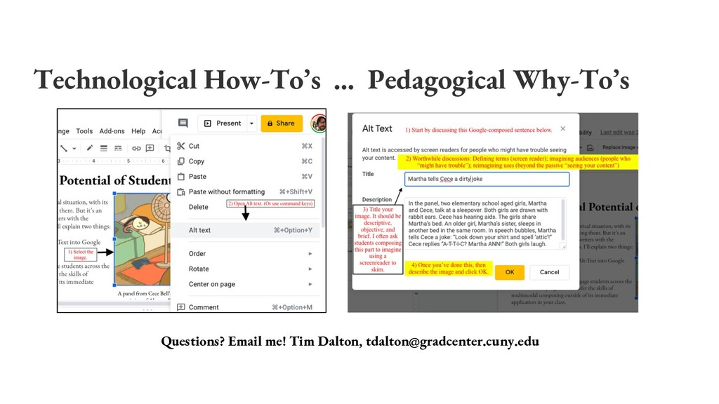Technological How-To's … Pedagogical Why-To's Q...