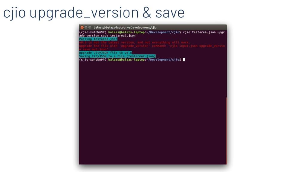 cjio upgrade_version & save