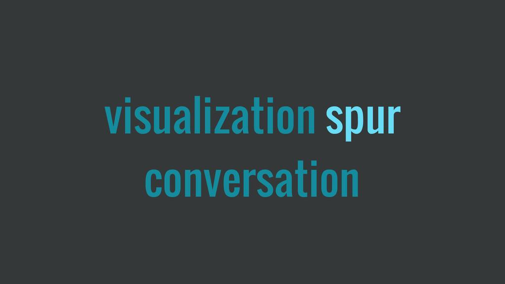 visualization spur conversation