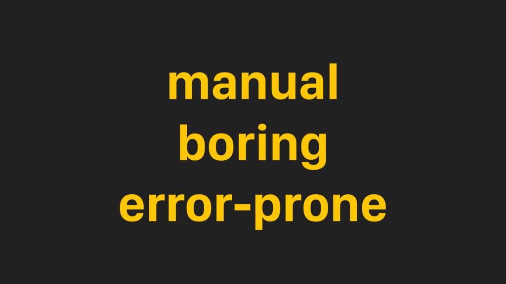 manual boring error-prone