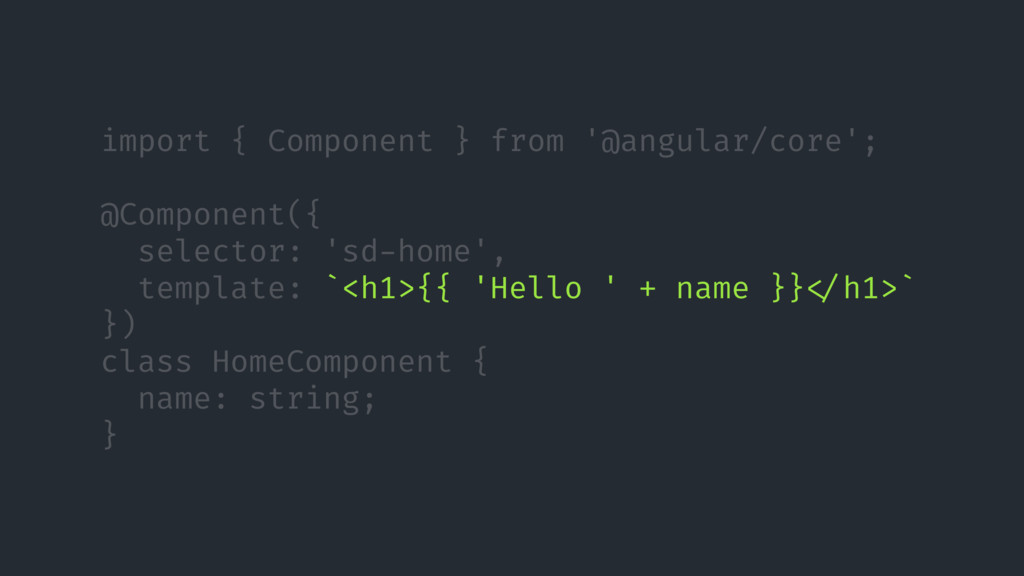 import { Component } from '@angular/core'; @Com...