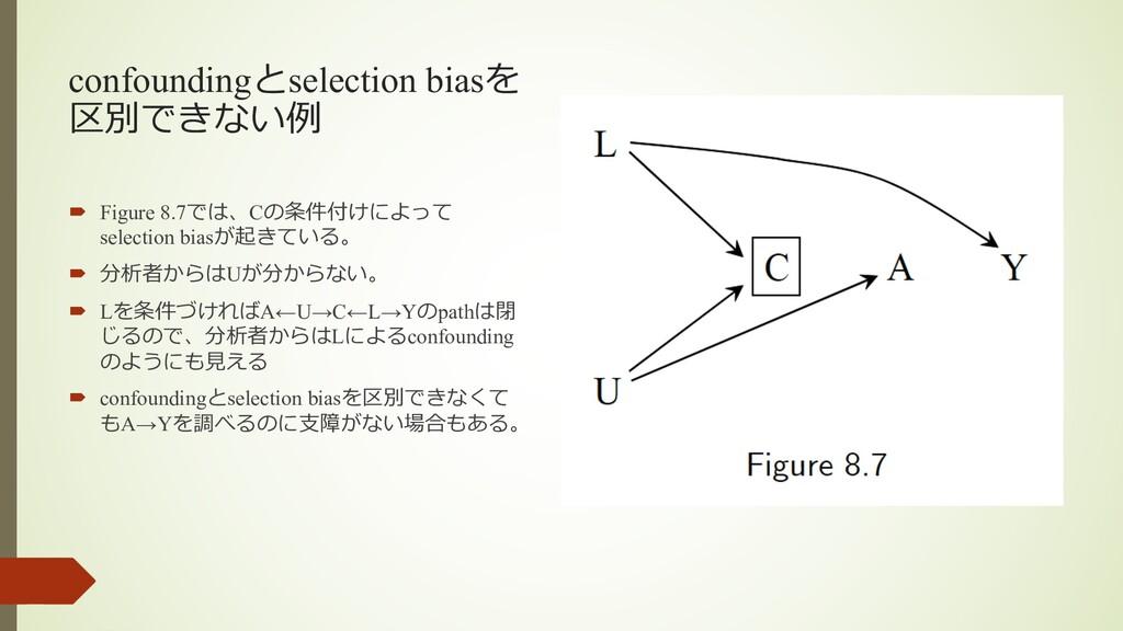 confoundingとselection biasを 区別できない例 ´ Figure 8....