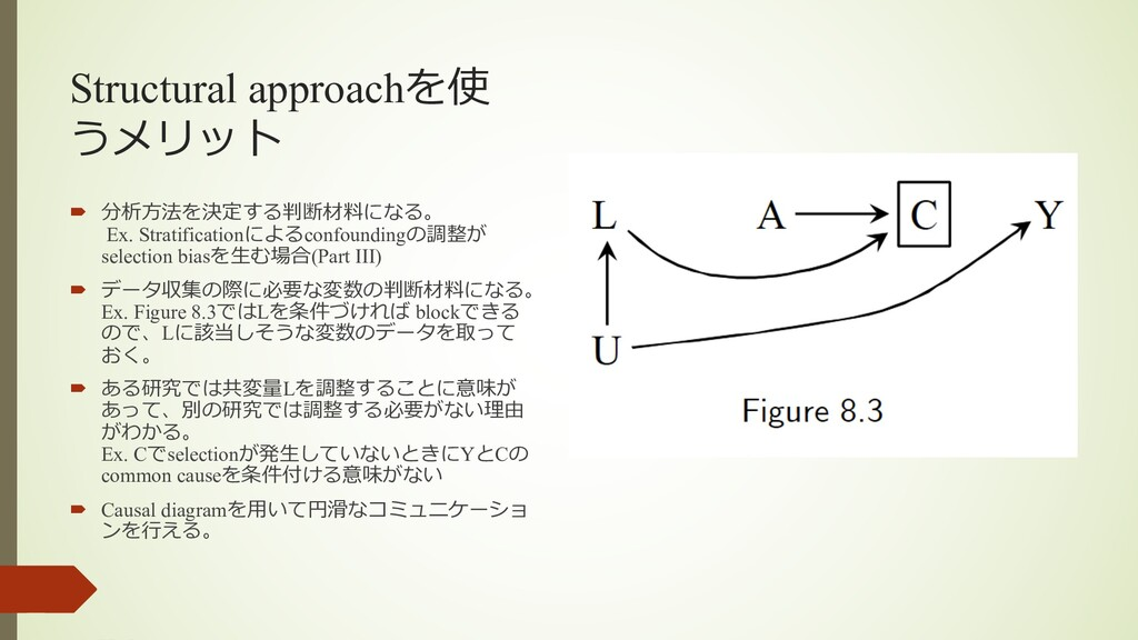 Structural approachを使 うメリット ´ 分析⽅法を決定する判断材料になる。...