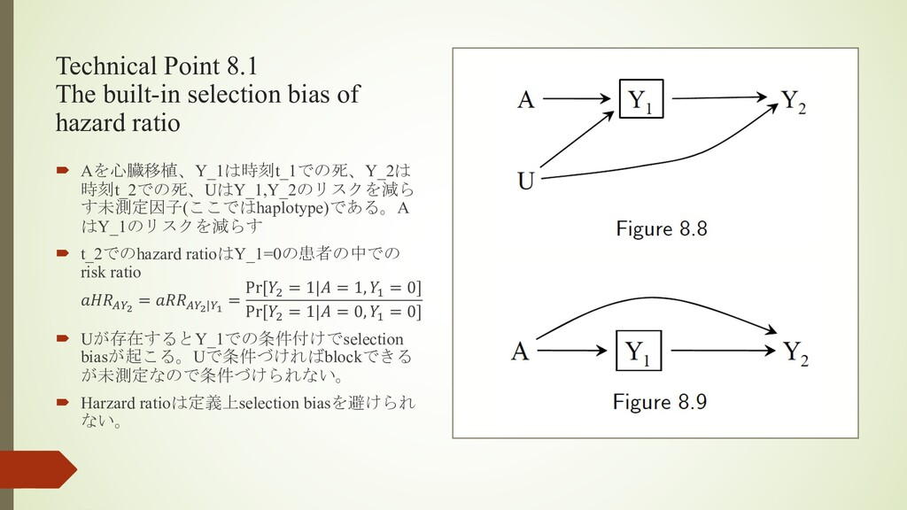 Technical Point 8.1 The built-in selection bias...