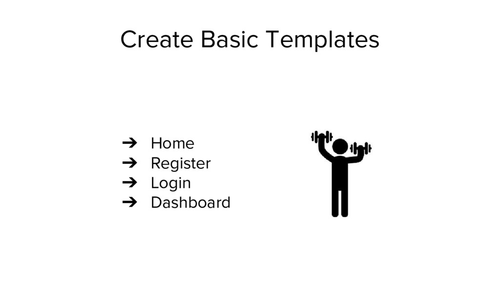 Create Basic Templates ➔ Home ➔ Register ➔ Logi...