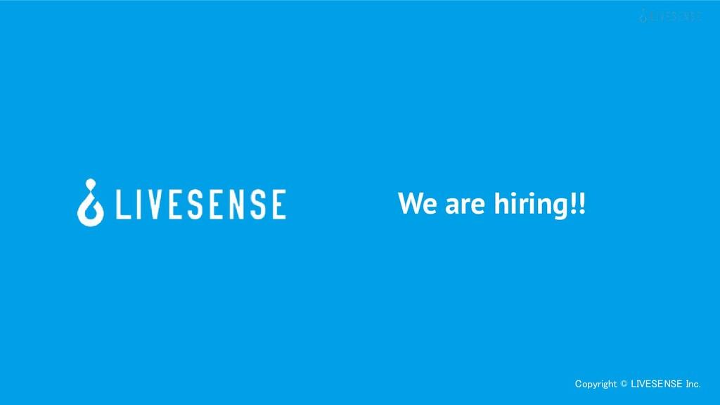 Copyright © LIVESENSE Inc. We are hiring!!