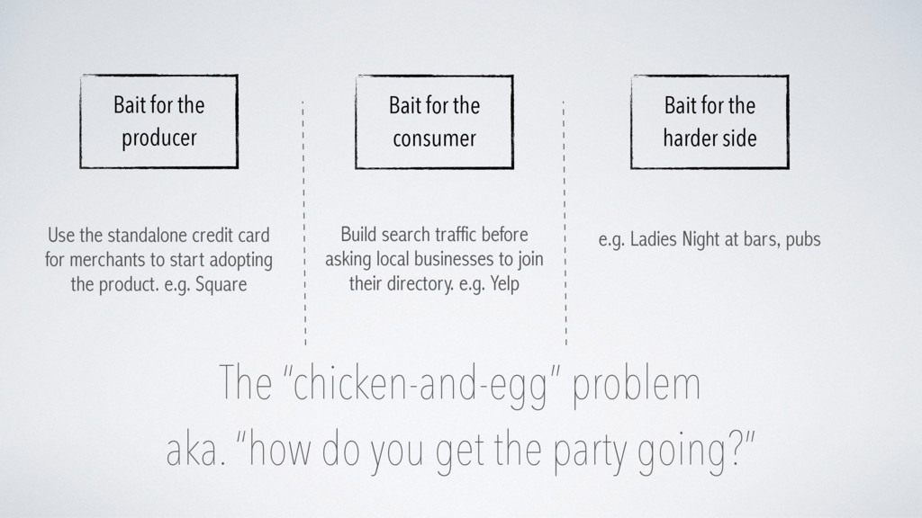 "The ""chicken-and-egg"" problem aka. ""how do you ..."