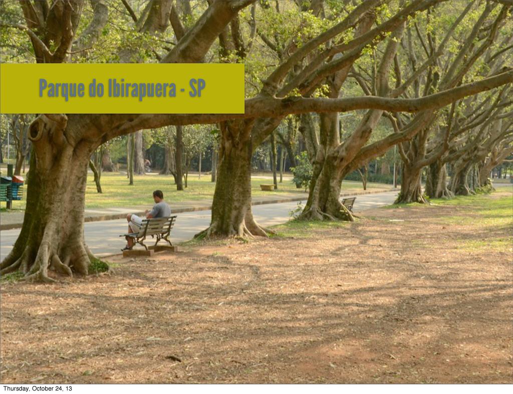 Parque do Ibirapuera - SP Thursday, October 24,...
