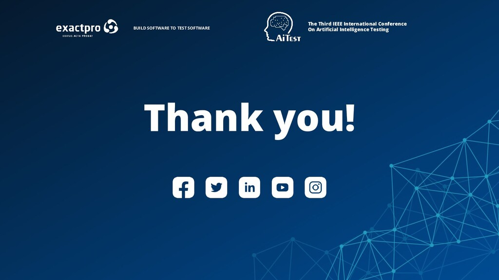 Thank you! The Third IEEE International Confere...