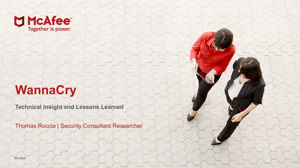 1 McAfee Foundstone Services McAfee WannaCry Te...