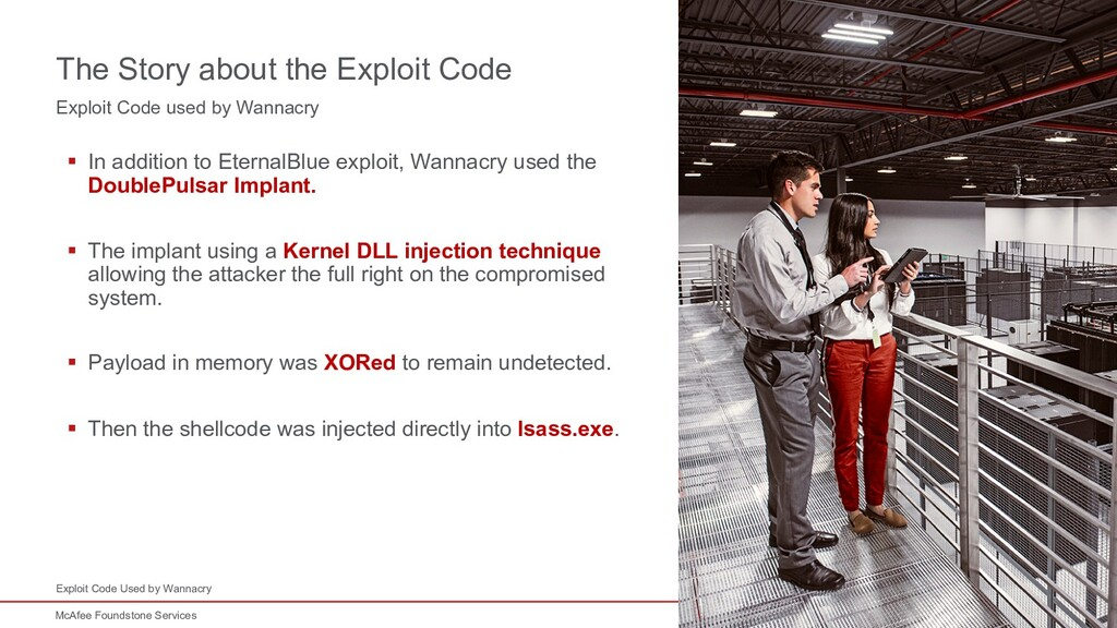 14 McAfee Foundstone Services Exploit Code used...