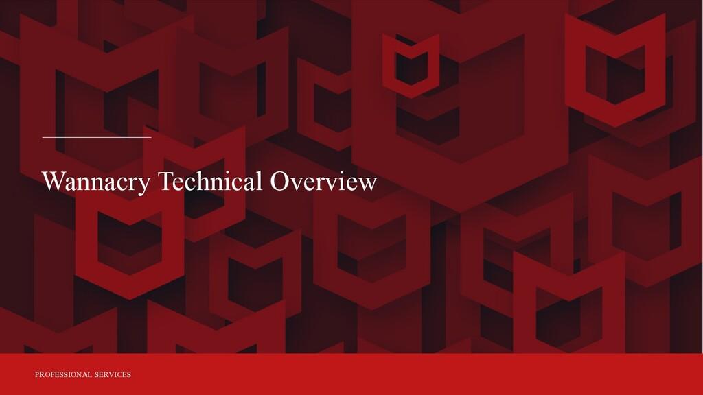 PROFESSIONAL SERVICES Wannacry Technical Overvi...