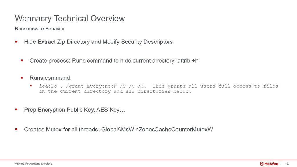 23 McAfee Foundstone Services § Hide Extract Zi...