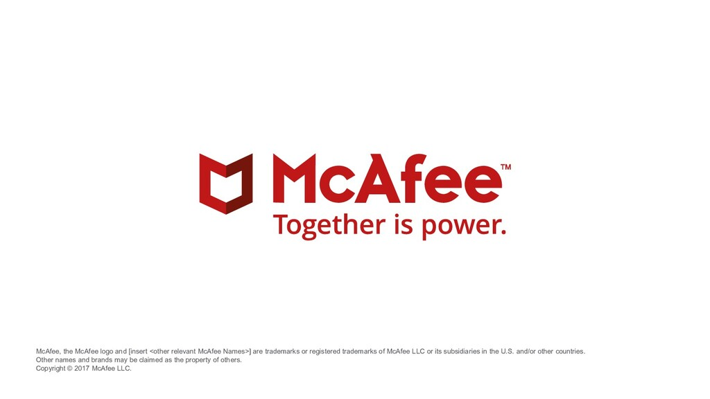 McAfee, the McAfee logo and [insert <other rele...