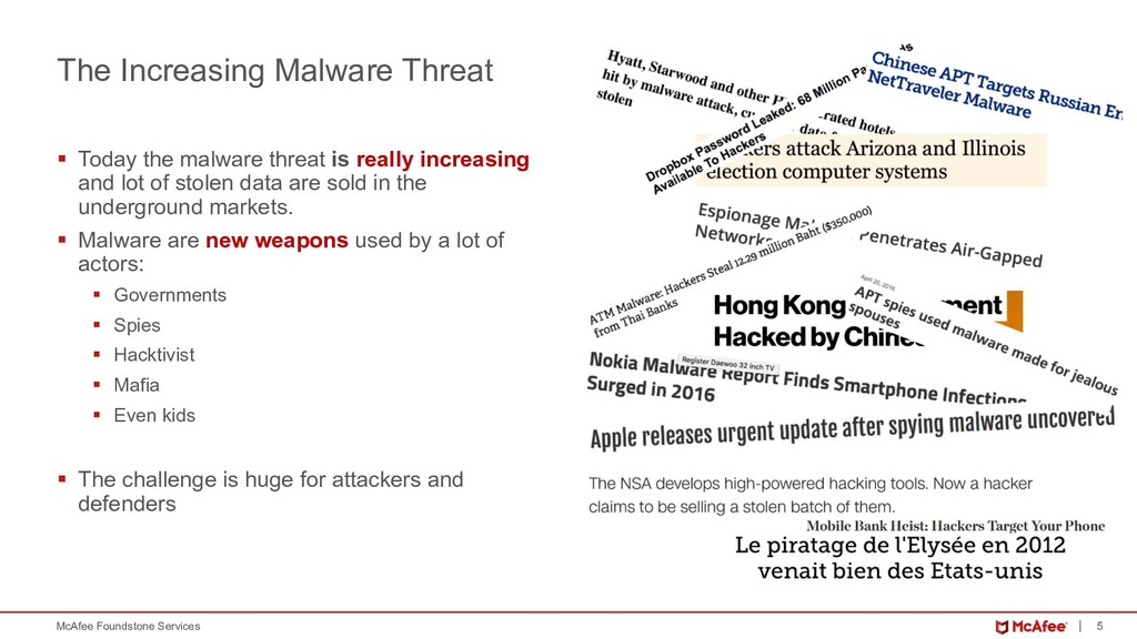 5 McAfee Foundstone Services The Increasing Mal...
