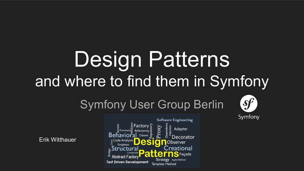 Design Patterns and where to find them in Symfo...